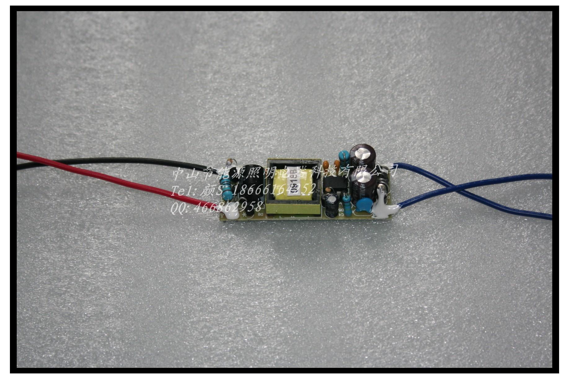 中山节能源led驱动恒流电源内置裸板9-18x3w电源