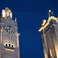 加拿大蒙特利尔钟楼的灯光改造