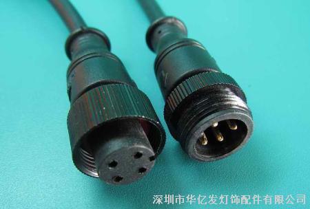 防水插头 HYF-m16B (金属) 4P