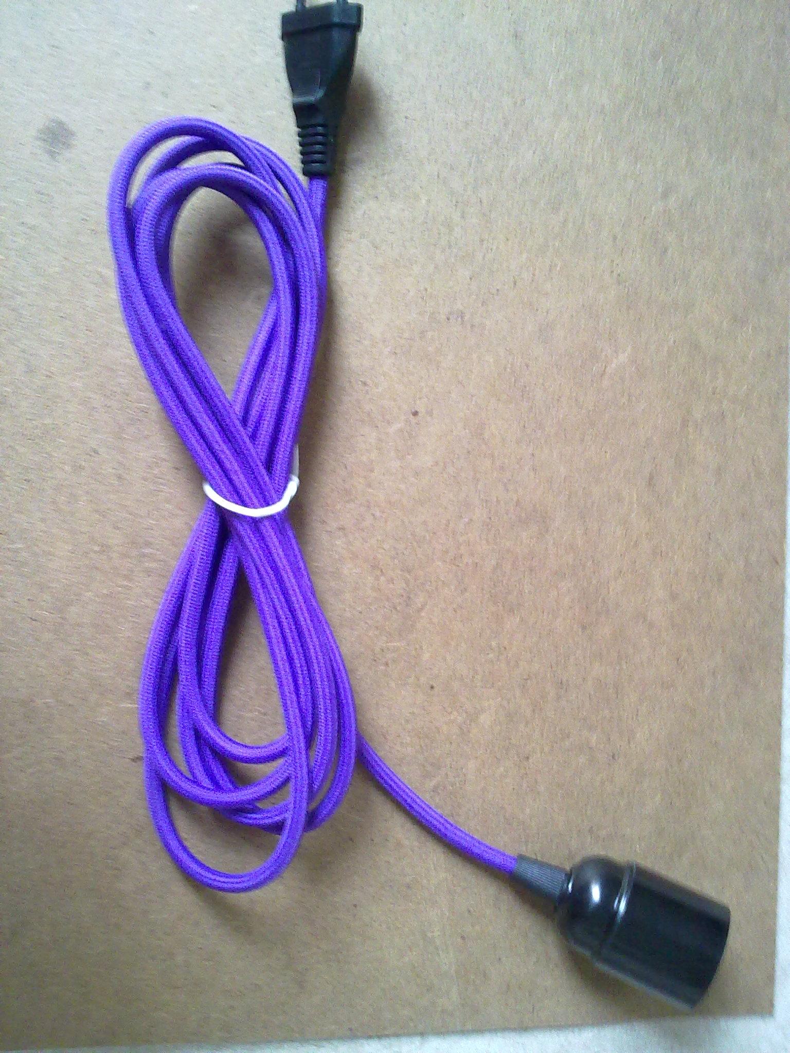 台灯吊灯配件,台灯插头电线带开关为灯头灯座,编织电源线