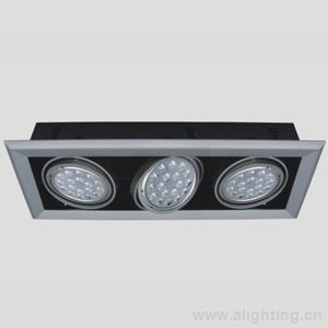 格栅灯盘是怎样接线的?里面有三个日光灯的?