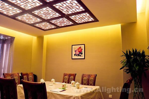 微型餐厅室内灯光艺术—尚膳餐厅照明设计赏析
