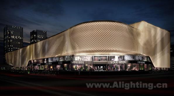 亮化效果图-武汉万达广场建筑与灯光设计分析(董唯转载)图片