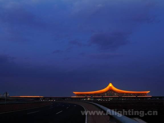 照明设计 案例欣赏  > 亮化效果图-昆明新机场led灯光景观作品(董唯