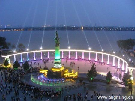 参评案例:哈尔滨防洪纪念塔景观照明工程