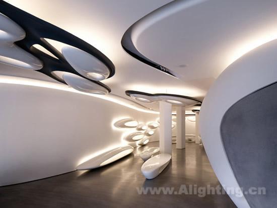乐家伦敦灯光室内及字体设计(图)-照明照明网的发展厅字分析图片