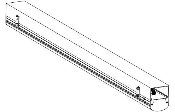 安装灯具及线槽盖(线槽固定在桁架上)