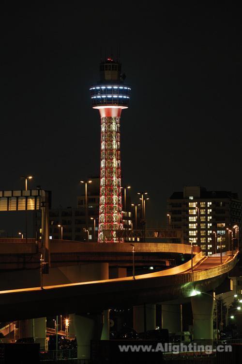日本横滨海洋塔在1961年(昭和