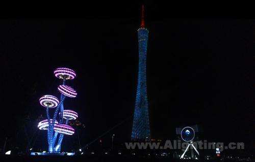 照明学会联合主办的第二届广州国际灯光节胜利闭幕