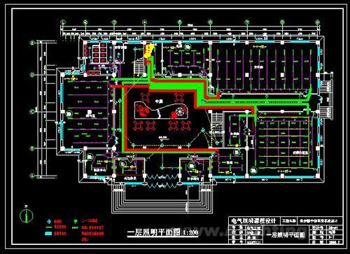 设计图/这是某大学的图书馆照明设计图,欢迎下载参考!