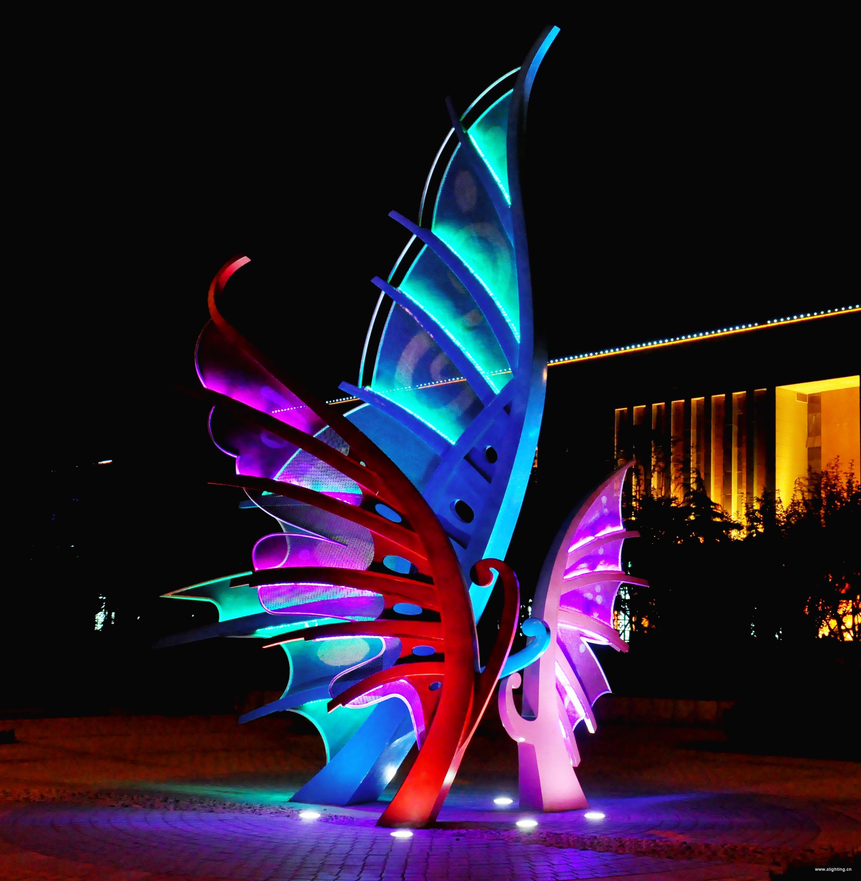 城市雕塑灯光