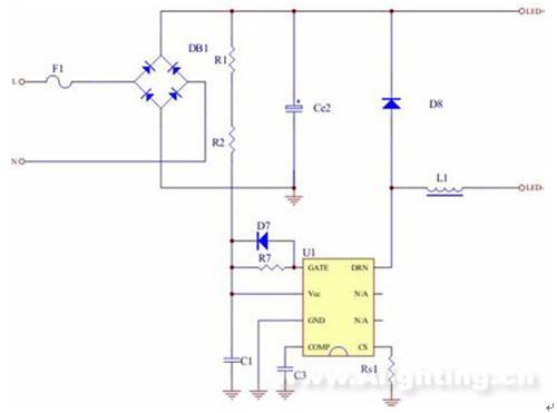 电感式日光灯电气接线图