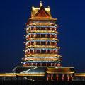 黄河金岸第一楼·青铜峡市中华黄河楼景观照明
