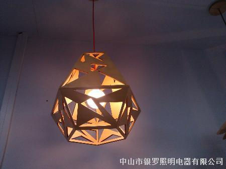 性软装原木装饰木头吊灯