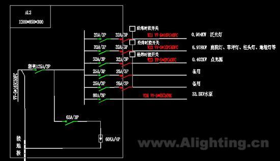 一级配电箱电路�_照明配电箱系统图