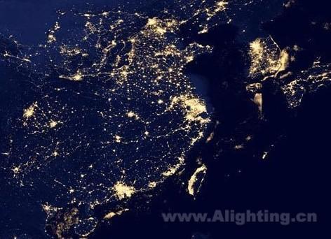 青岛 中国/2013年夜景卫星图