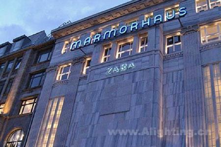 zara服装店照明设计方向
