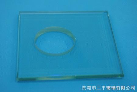 磨斜亮边钢化玻璃--灯饰钢化玻璃
