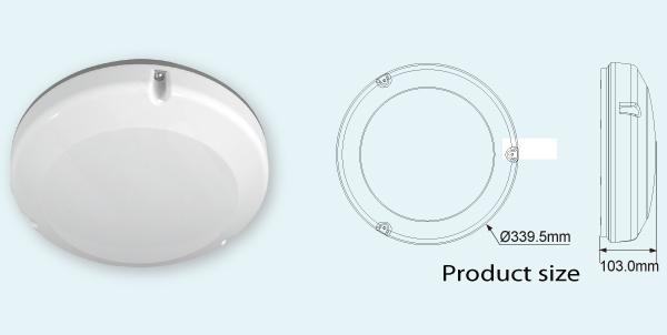 微波圆形感应led吸顶灯