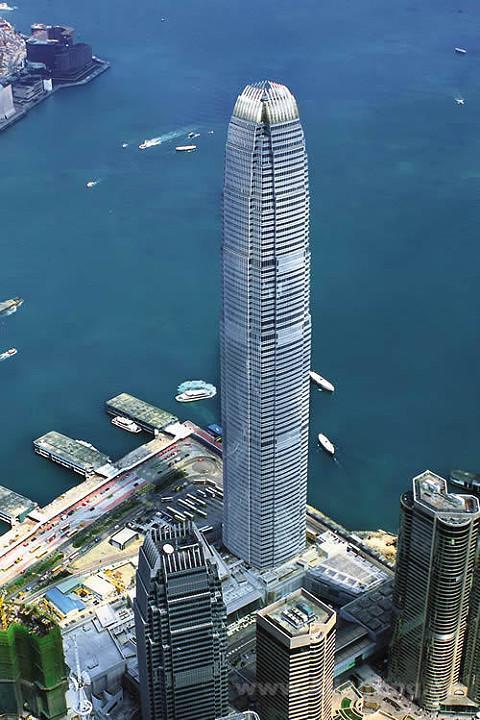 的香港中环地标建筑