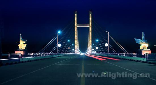 上虞人民大桥夜景照明工程详解