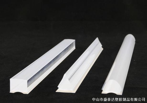 有机玻璃(PMMA)双色光扩散+导光装饰灯条异型棒材