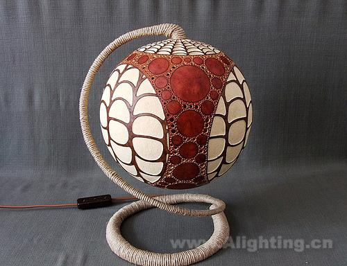 Gourd shape novelty lamps emit magical light