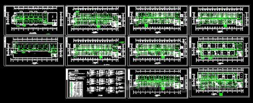 附件为某医院住院部照明图纸,包括各楼层平面图和照明配电