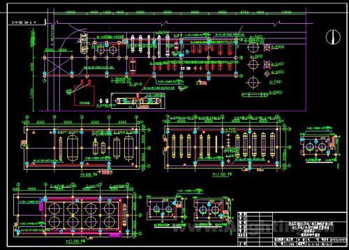 石化工厂厂房装置设备照明图纸