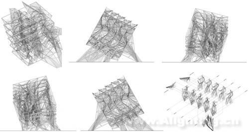 透视立方体灯光设计