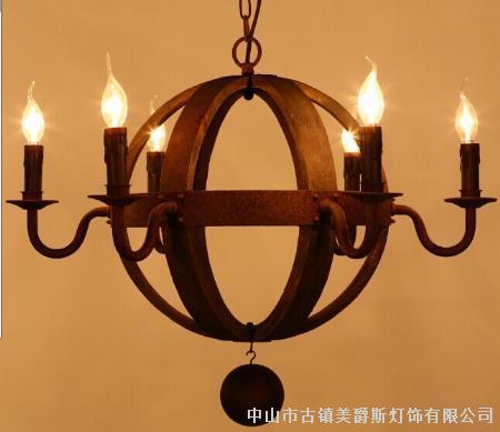 欧美复古吧台美式乡村工业餐厅客厅欧式创意威士忌酒桶吊灯