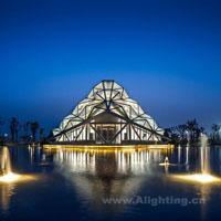 长沙梅溪湖节庆岛钻石宫建筑照明