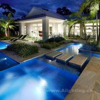 浑然天成的国外现代庭院景观照明设计赏析