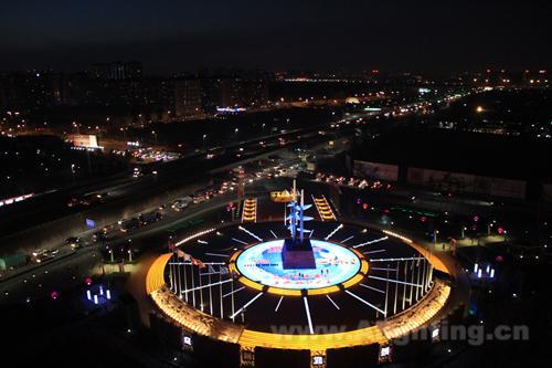 新媒體文化廣場景觀燈光亮化設計