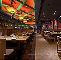 1旺池川菜上海嘉定店餐厅灯光设计