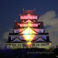 2013日本大坂城冬季3D光之阵灯光秀