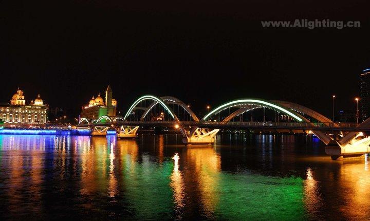 市中亭街LED亮化夜景图片
