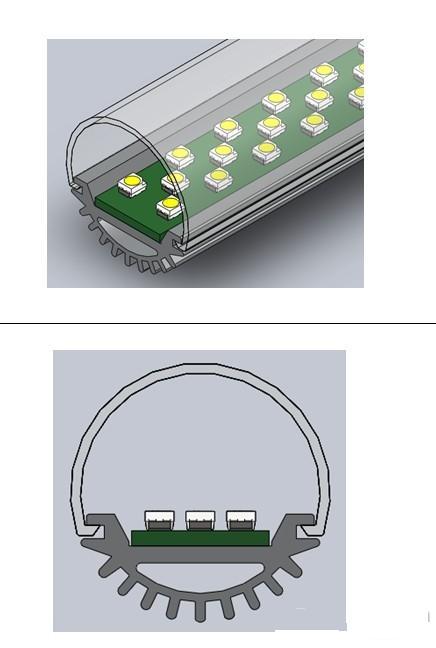 led日光灯部分结构分析对比(转载)