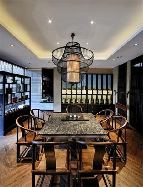 茶楼禅文化灯光与装饰设计-天奇灯光设计