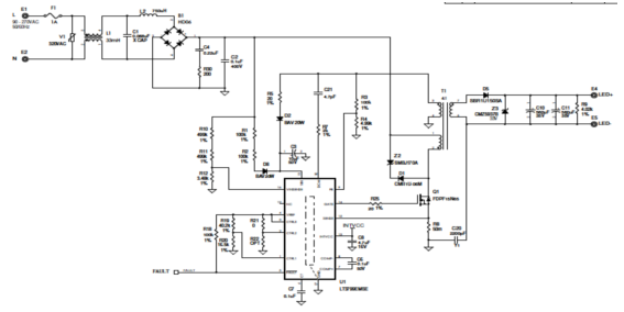 这个电路图是一个给24瓦吸顶灯用的演示板的电路图.