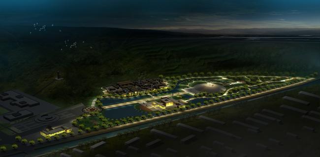 山西武乡县八路军广场照明设计