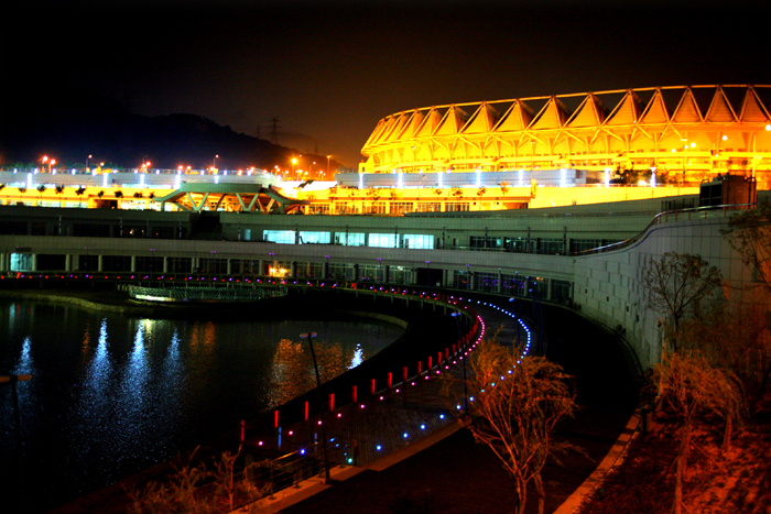 青岛体育中心夜景照明工程设计