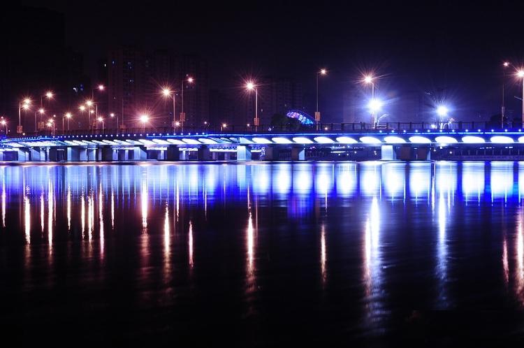 led灯光--------活力岛夜景-天奇灯光设计