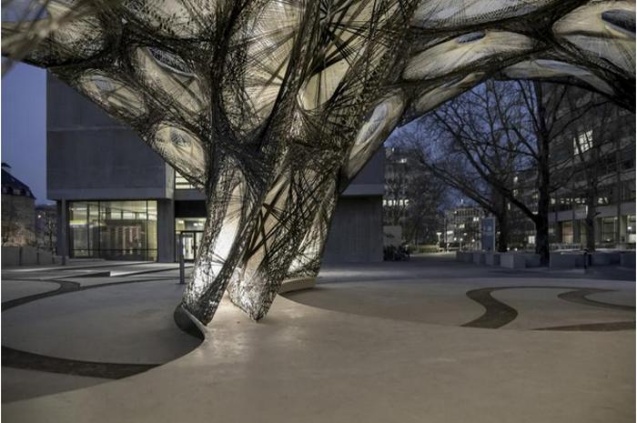 优雅几何抽象创意建筑
