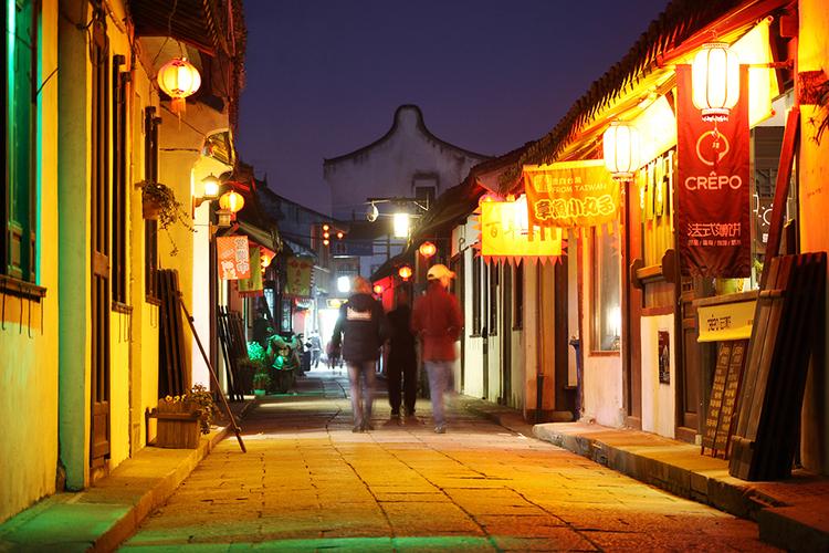 LED灯光 上海新场古镇 灯光帮