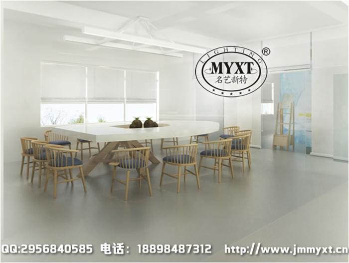会议室照明灯具设计图-广州办公照明灯具定制设计安装调试全过程展