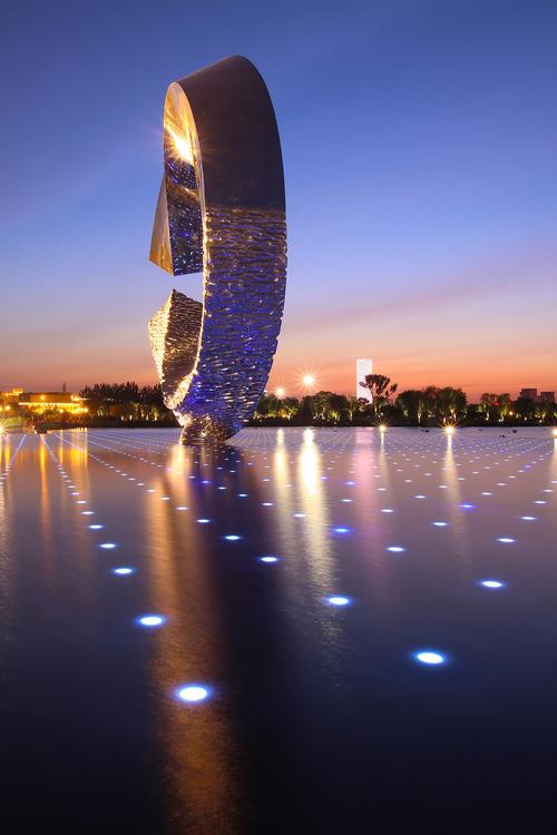 LED灯光 天津文化中心夜景 灯光帮