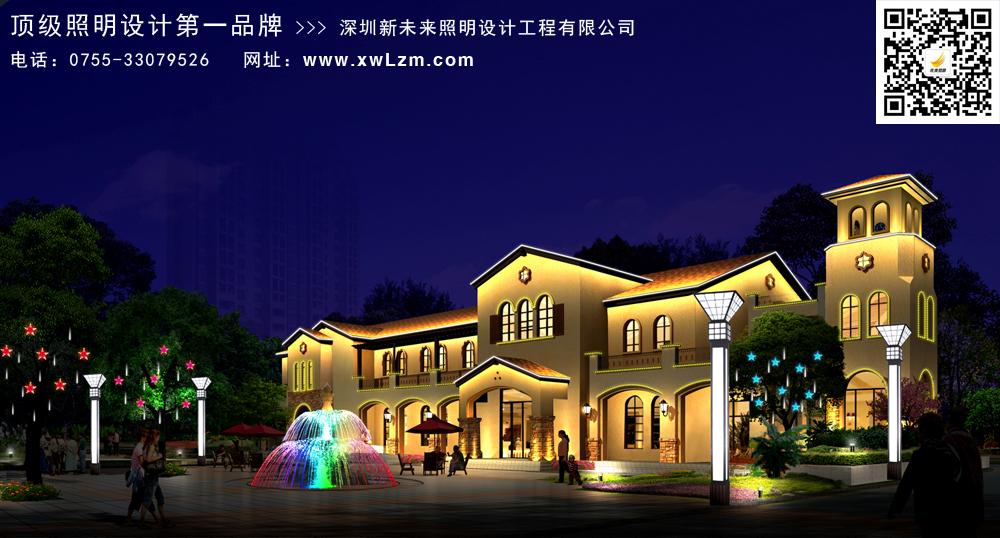 庭院大小别墅灯光设计灵动打造别致的别墅小的别墅景观窗农村图片