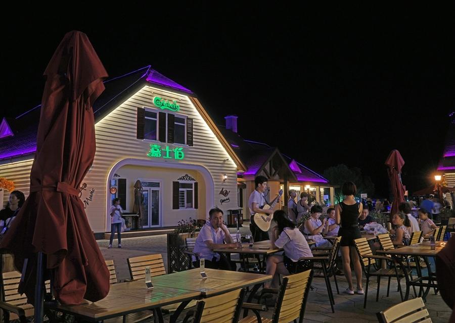 led灯光------青岛啤酒节黄岛分会场夜景-天奇灯光