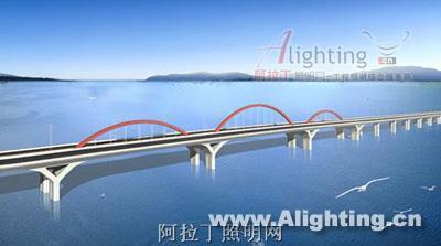 福建省福州湾边袋子大桥笔画v袋子(照明)夜景设计图简组图图片